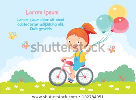 Poster Ball With Grass And Flowers White Background Stock photo © cammep