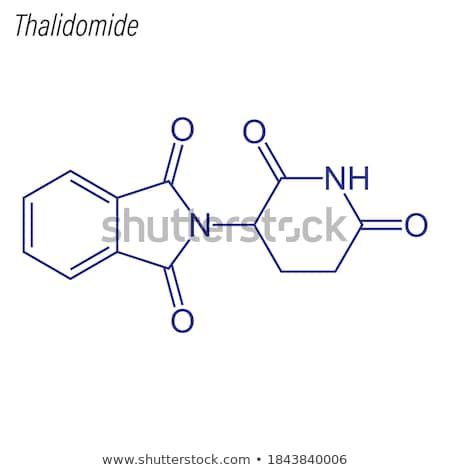 Chemical formula of Thalidomide Stock photo © Zerbor