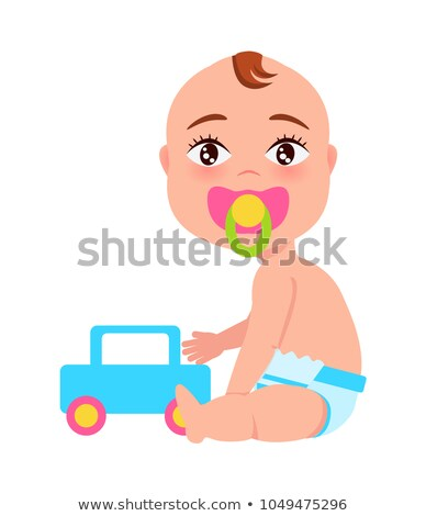 Boy with Dummy in Its Mouth, Vector Illustration Stock photo © robuart