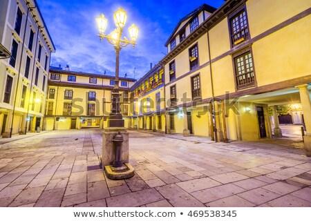 квадратный Испания небе город синий архитектура Сток-фото © lunamarina