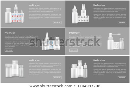 Pharmacy Poster with Nasal Spray Container Capsule Stock photo © robuart