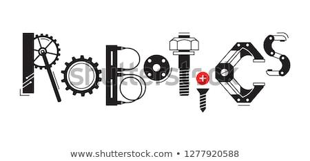 beyaz · mekanik · sayı · tahtası · vektör · şablon · yalıtılmış - stok fotoğraf © robuart