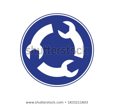 Road signs arranged in circle shape isolated on white Stock photo © Evgeny89