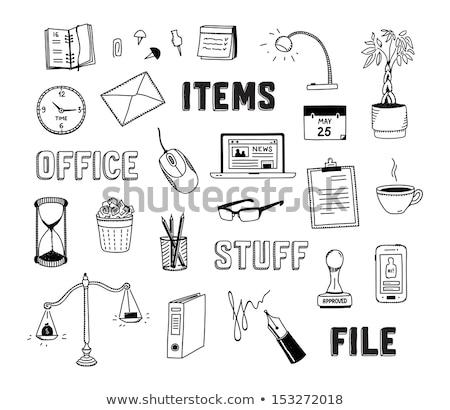 スタック · 論文 · 最初 · シート · 白 · ビジネス - ストックフォト © robuart