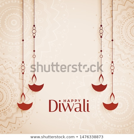 Zdjęcia stock: Elegant Creative Diwali Diya Greeting Background