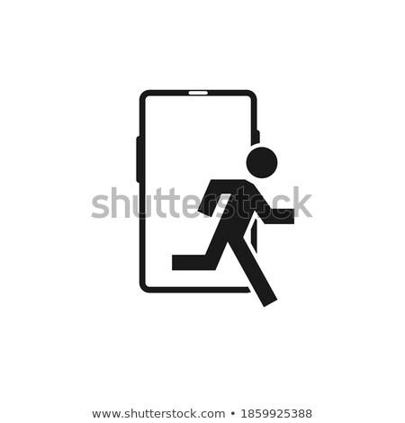 Mobil detoxikáló vektor ikon izolált fehér Stock fotó © smoki