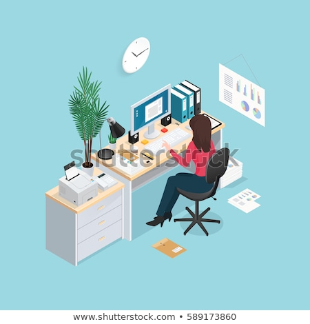 local · de · trabalho · escritório · negócio · trabalhar · elementos · conjunto - foto stock © decorwithme