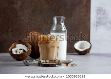 Caffè latte di cocco buio sfondo ghiaccio bere Foto d'archivio © grafvision
