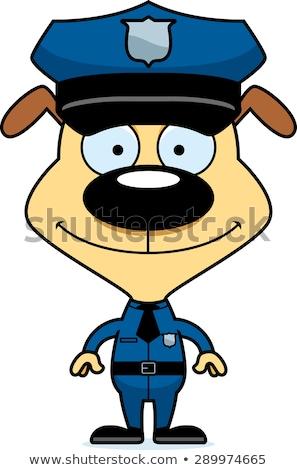 Cartoon sonriendo oficial de policía cachorro Foto stock © cthoman