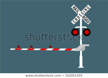 A stop sign at a railroad crossing. Stock photo © EvgenyBashta