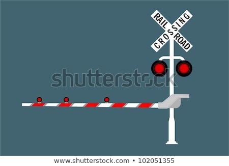 vonat · figyelmeztető · jel · vasút · felirat · szállítás · citromsárga - stock fotó © evgenybashta