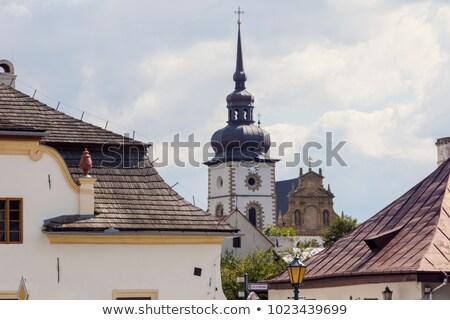 Polônia céu igreja azul viajar linha do horizonte Foto stock © benkrut