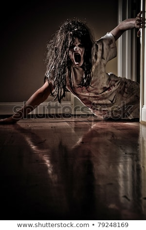 Creepy zombie girl scene Stock photo © bluering