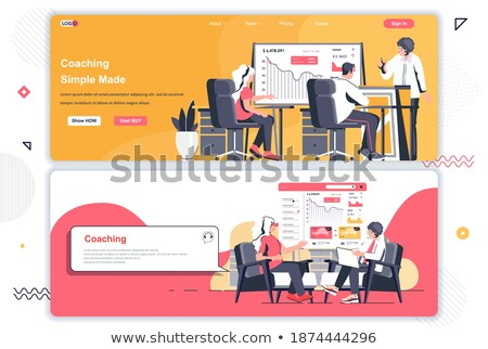 Business coaching header or footer banner. Stock photo © RAStudio