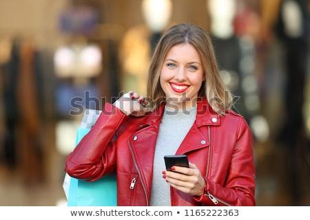 mulheres · jovens · janela · compras · indicação · design · de · interiores · armazenar - foto stock © dolgachov