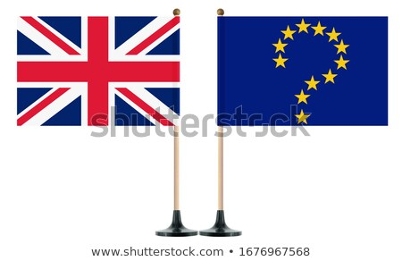 flag EU and  Great Britain and red question on white background. Stock photo © ISerg