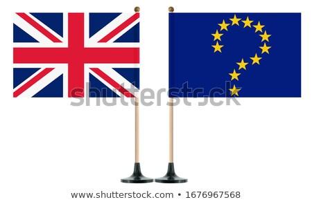 Flagge · Großbritannien · weiß · isoliert · 3D · Bild - stock foto © iserg