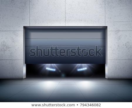 Puerta abierta luz anunciante disposición vector plantilla Foto stock © beaubelle