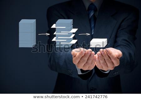 Grand données minière analyste homme technologie Photo stock © Elnur