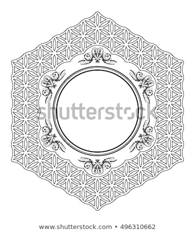 шестиугольник кадр стилизованный черный вектора бизнеса Сток-фото © blaskorizov