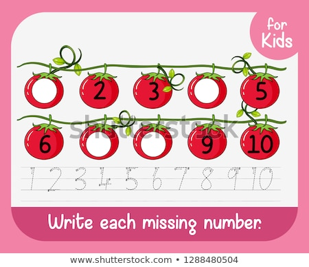 Write each missing number Stock photo © colematt