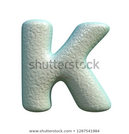 Grijs Blauw klei doopvont brief 3D Stockfoto © djmilic