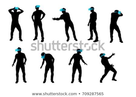 интерактивный реальность человек очки вектора Сток-фото © robuart