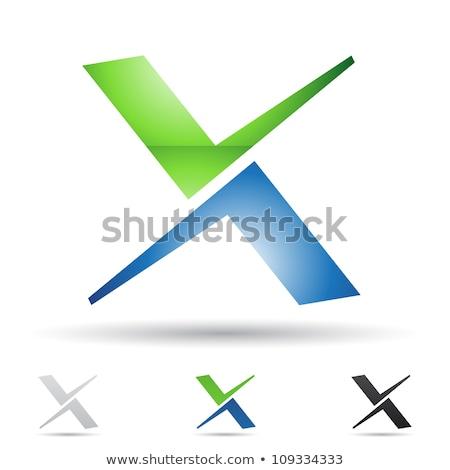 письма набор черный вектора икона символ Сток-фото © blaskorizov