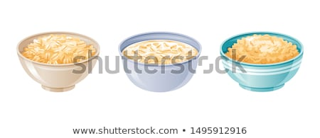 Płatki śniadaniowe mleka stylu vintage żywności biały Zdjęcia stock © zoryanchik