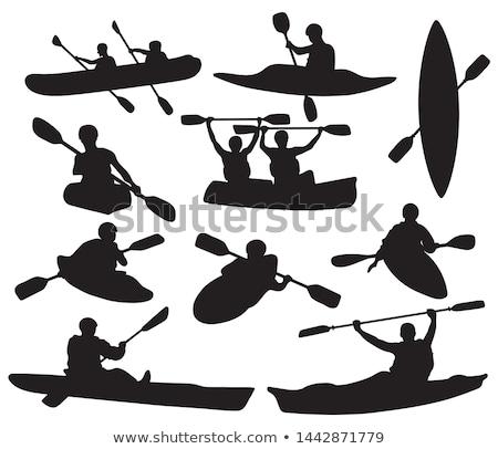Ilustração caiaque esportes mar viajar rio Foto stock © adrenalina