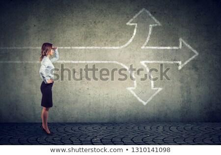 女性実業家 見える 将来 交差点 ストックフォト © ichiosea