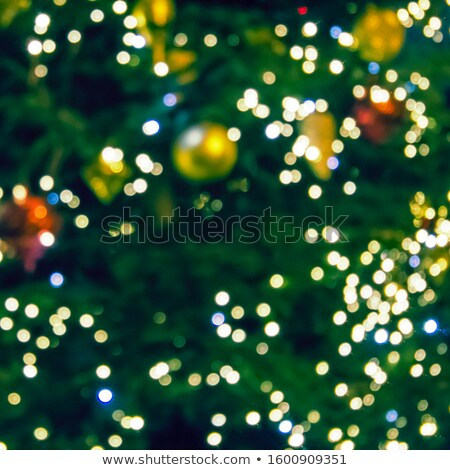 Stock photo: close up of christmas decoration of fir and cone