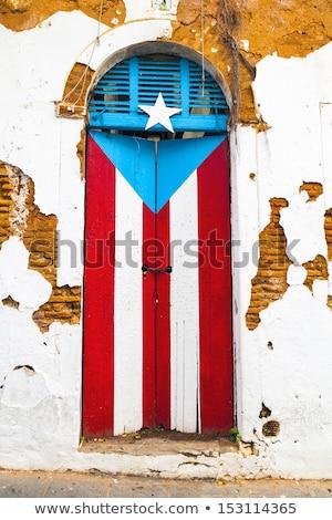 Puerto · Rico · bandera · banderas - foto stock © mikhailmishchenko