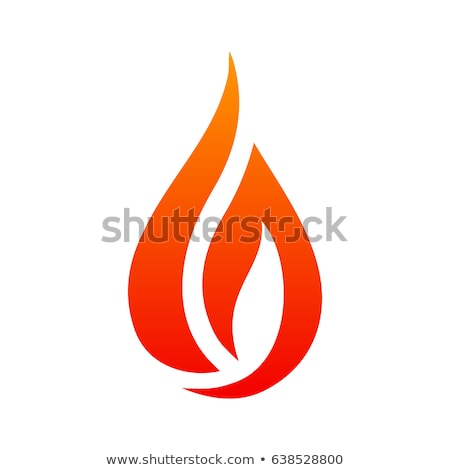 Fire or flame simple Logo. Vector illustration isolated on white background. Stock photo © kyryloff