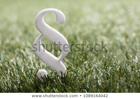 Blanche paragraphe symbole herbe herbe verte Photo stock © AndreyPopov