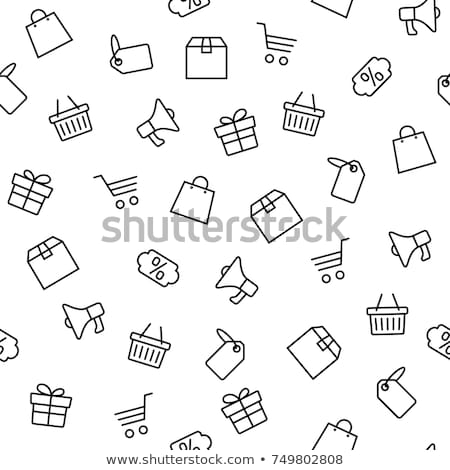 black friday price tag with shopping cart gift box stock photo © robuart