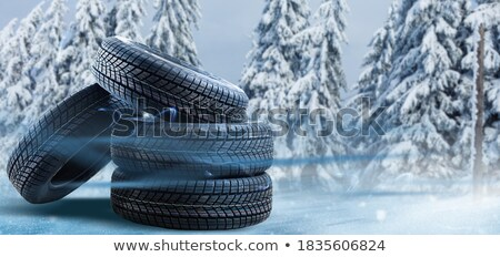 Tires in a row over black Stock photo © amok