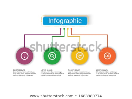 Four options diagram template Stock fotó © orson