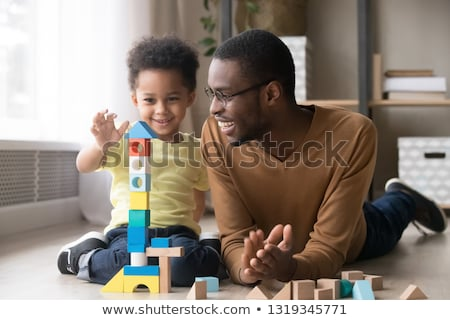 Baby Sitting Playing with Toys Cubes Childcare Stock photo © robuart