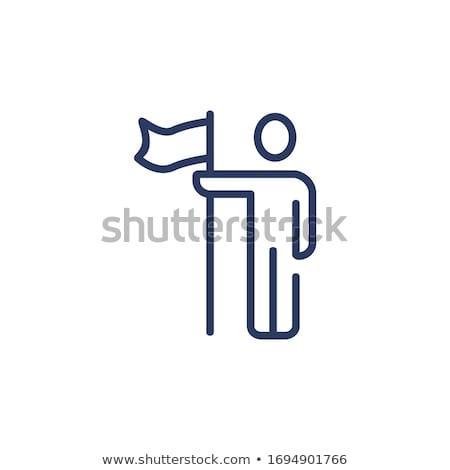 Gól vektor illusztráció célzás vezetőség ikonok Stock fotó © makyzz