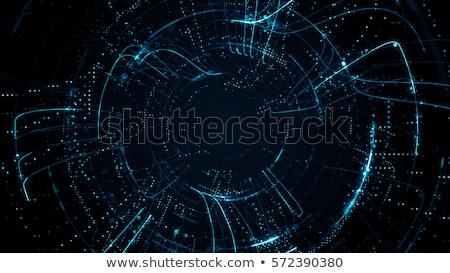 digitale · gloed · effect · lijnen · cirkel · verbinding - stockfoto © designleo
