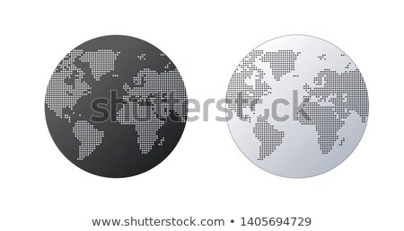 simple globe shape world map created from dots on white background global connection concept stock photo © kyryloff