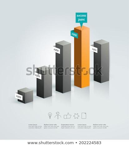 Photo stock: Bar · graphiques · colonne · entreprise