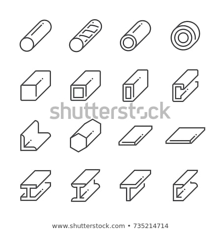 Metallurgy flat icon set Stock photo © netkov1