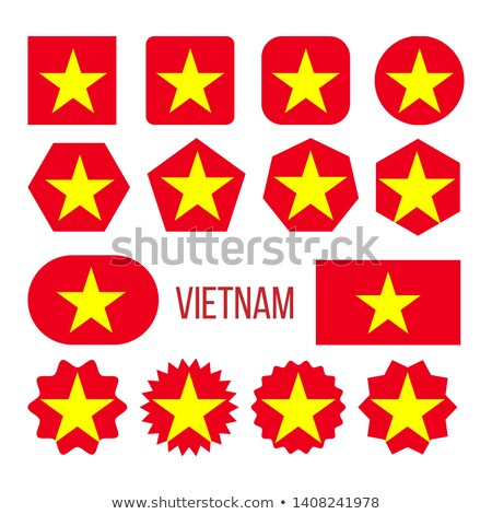 Vietnam Flag Collection Figure Icons Set Vector Stock photo © pikepicture