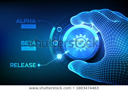 Beta testowanie malutki ludzi biznesu cyfrowe Zdjęcia stock © RAStudio
