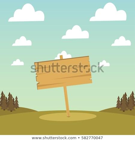 verde · campo · blue · sky · primavera · estrada - foto stock © suriyaphoto