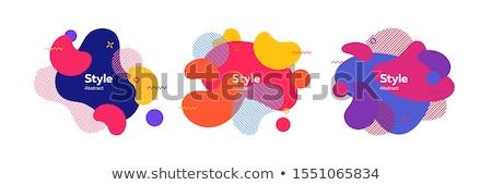 business · stijl · meetkundig · banners · Blauw · kleur - stockfoto © robuart