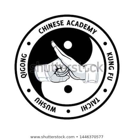Chinese martial academy symbol Stock photo © sahua