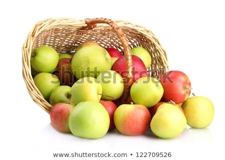 黄色 リンゴ バスケット 孤立した 精進料理 ベクトル ストックフォト © robuart